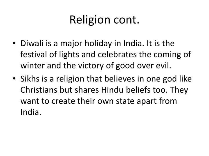 Religion cont.