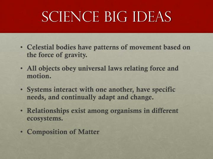 science big ideas