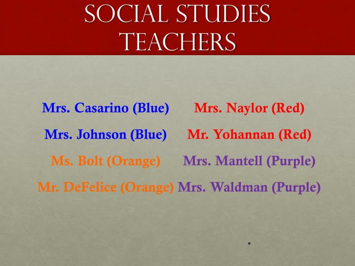 social studies teachers