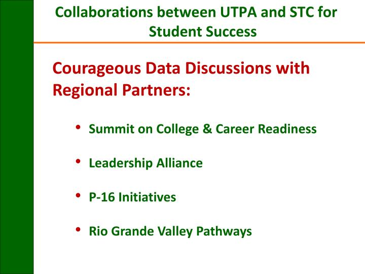Courageous Data Discussions with Regional Partners: