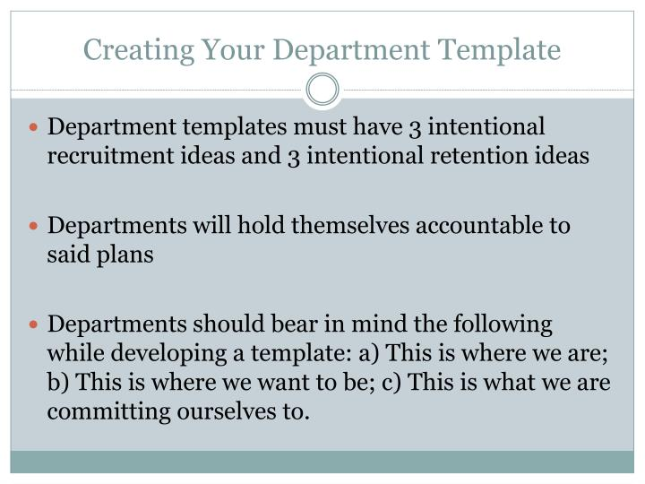 Creating Your Department Template