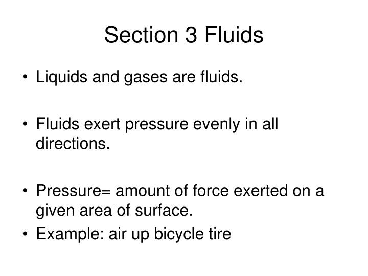 Section 3 Fluids