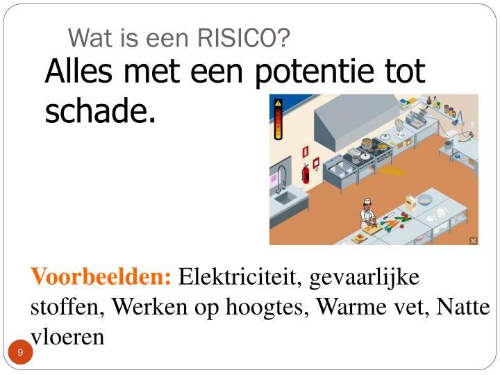Wat is een RISICO?