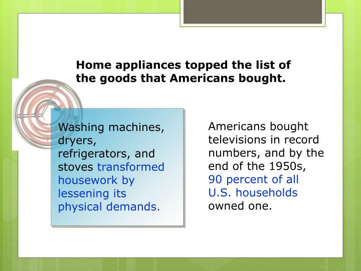 Washing machines, dryers, refrigerators, and stoves