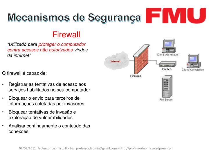 Mecanismos de Segurança