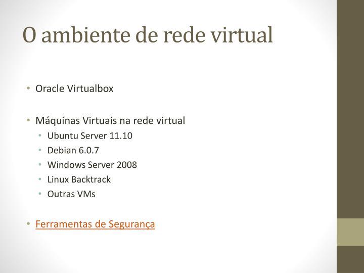 O ambiente de rede virtual