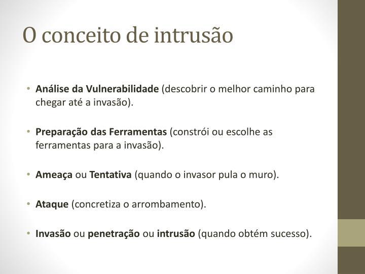 O conceito de intrusão