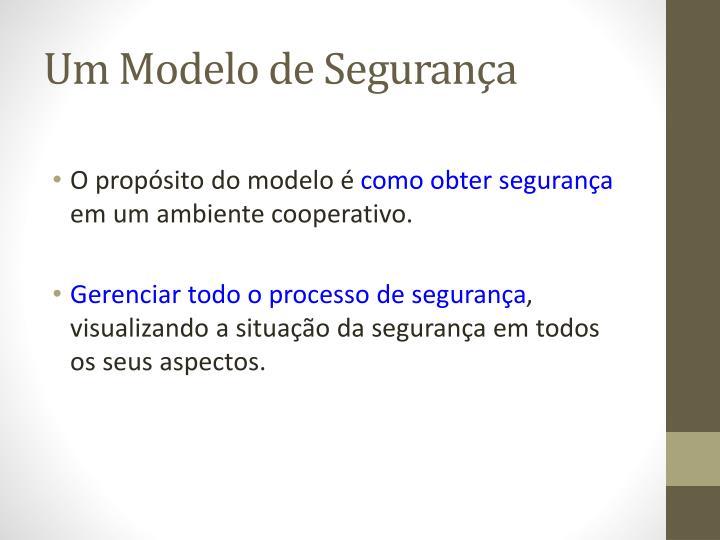 Um Modelo de Segurança