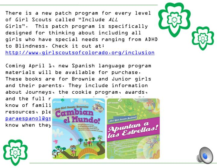 There is a new patch program for every level of Girl Scouts called