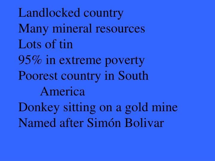 Landlocked country