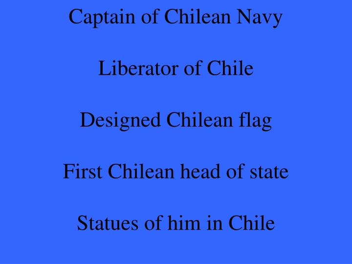 Captain of Chilean Navy