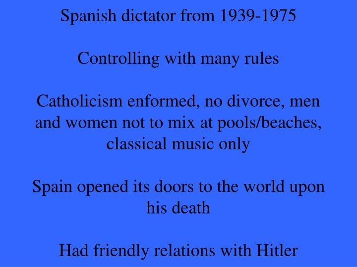 Spanish dictator from 1939-1975