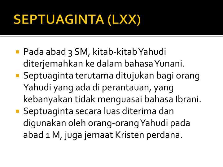 SEPTUAGINTA (LXX)