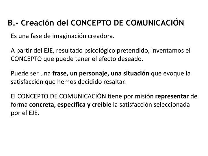 B.- Creación del CONCEPTO DE