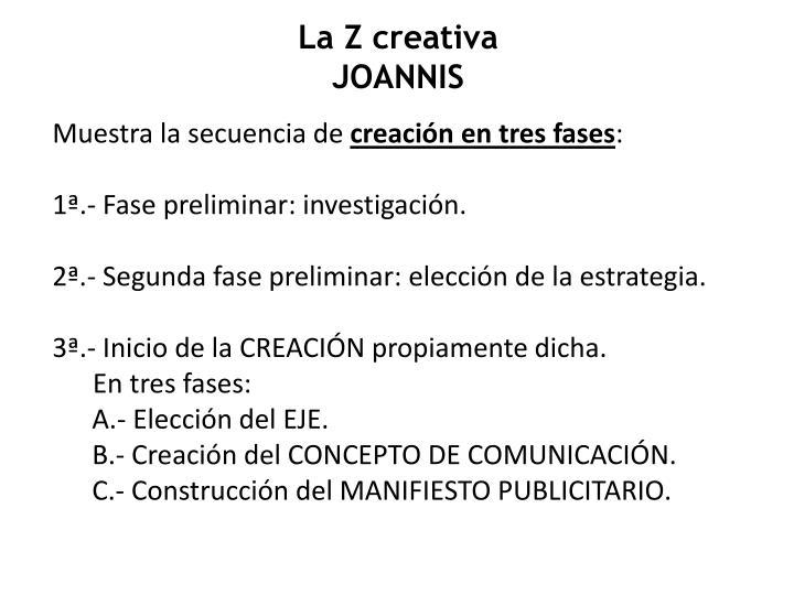 La Z creativa