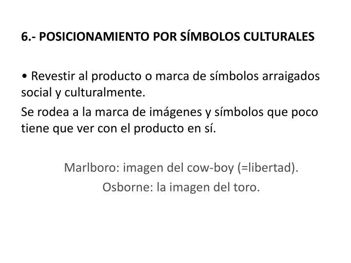 6.- POSICIONAMIENTO POR SÍMBOLOS