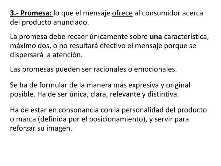 3.- Promesa: