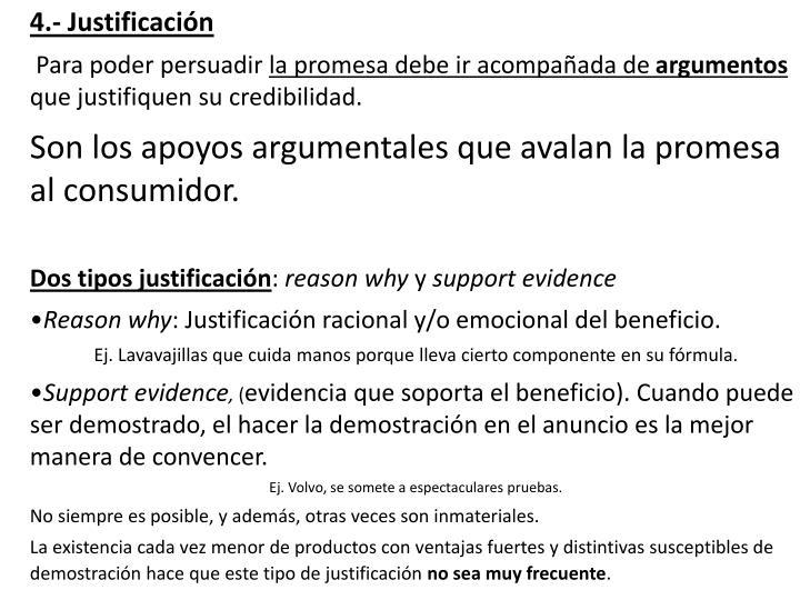4.- Justificación