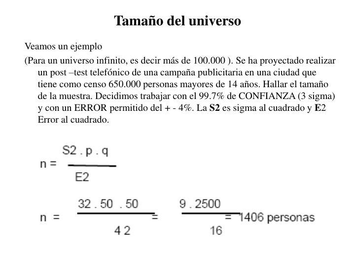 Tamaño del universo
