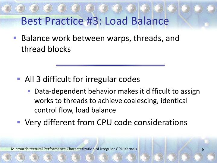 Best Practice #3: Load Balance