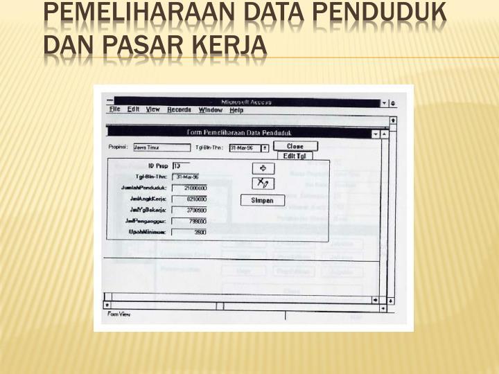 Pemeliharaan Data Penduduk