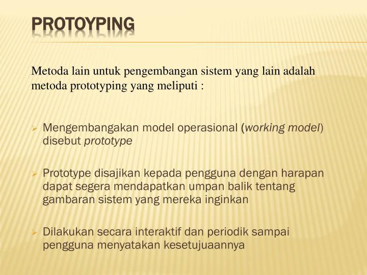 Mengembangakan model operasional