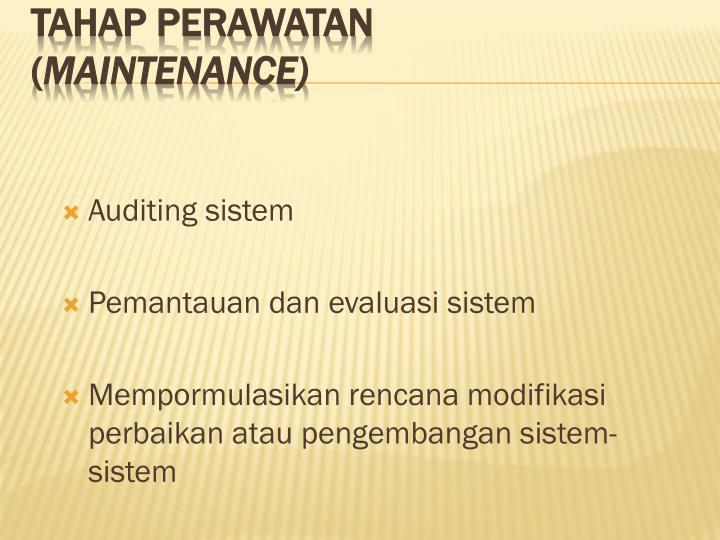 Auditing sistem