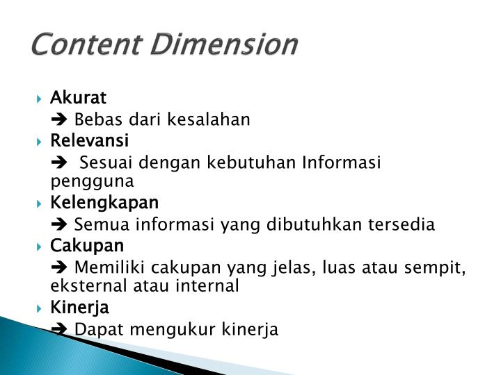 Content Dimension
