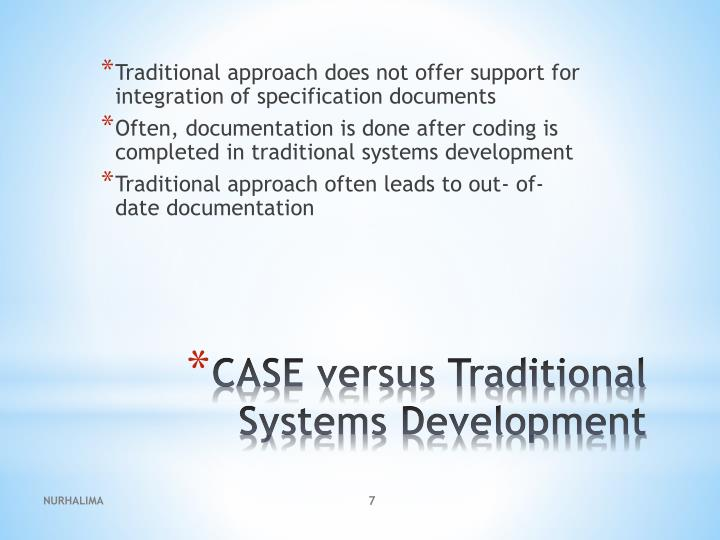 Traditional approach does not offer support for integration of specification documents