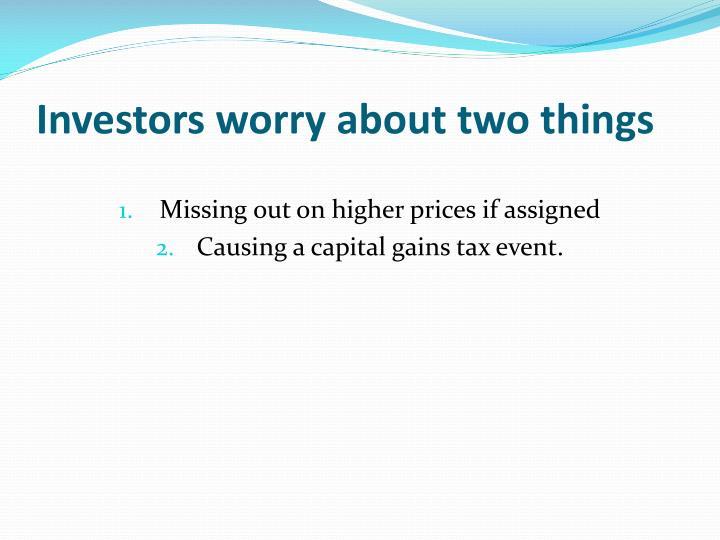Investors worry