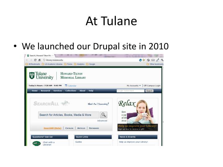 At Tulane