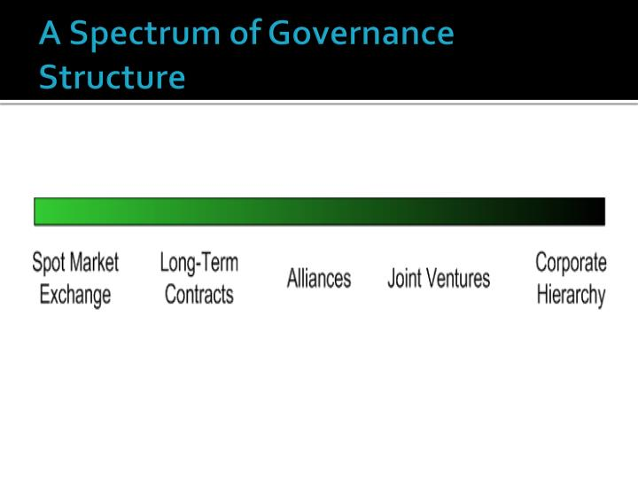 A Spectrum of Governance Structure