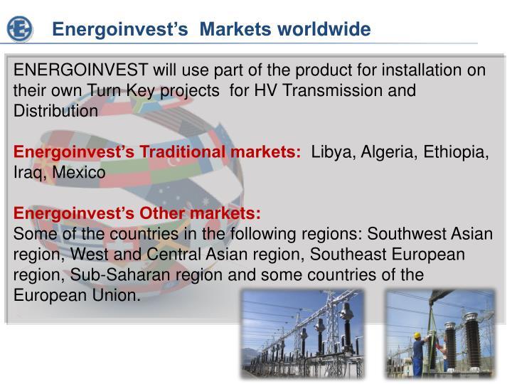 Energoinvest's  Markets