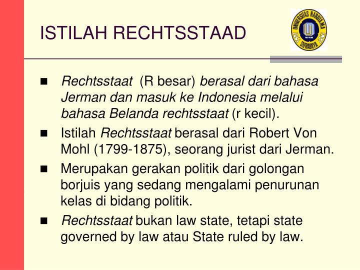 ISTILAH RECHTSSTAAD