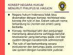 konsep negara hukum menurut philipus m hadjon