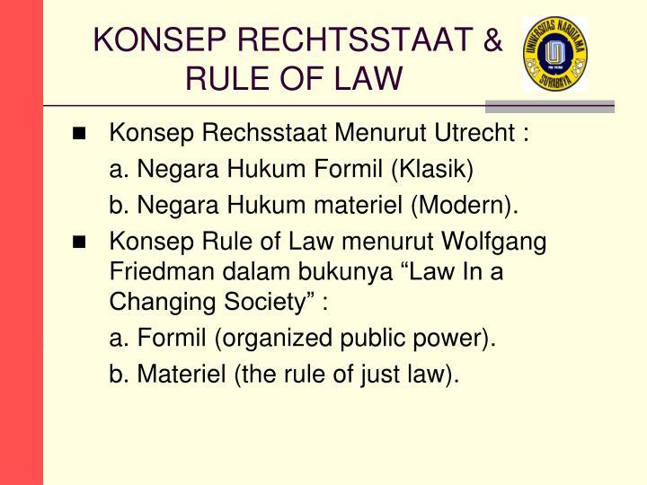 KONSEP RECHTSSTAAT &