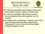 rechtsstaat rule of law