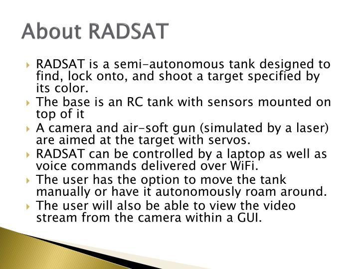 About RADSAT