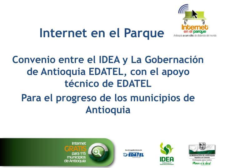 Internet en el Parque