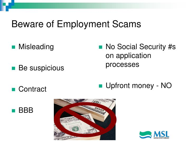 Beware of Employment Scams