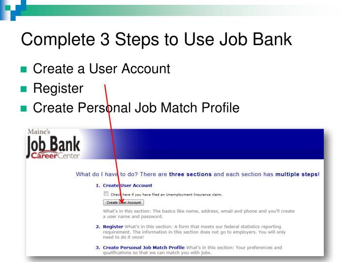 Complete 3 Steps to Use Job Bank