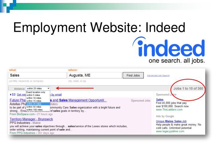 Employment Website: Indeed