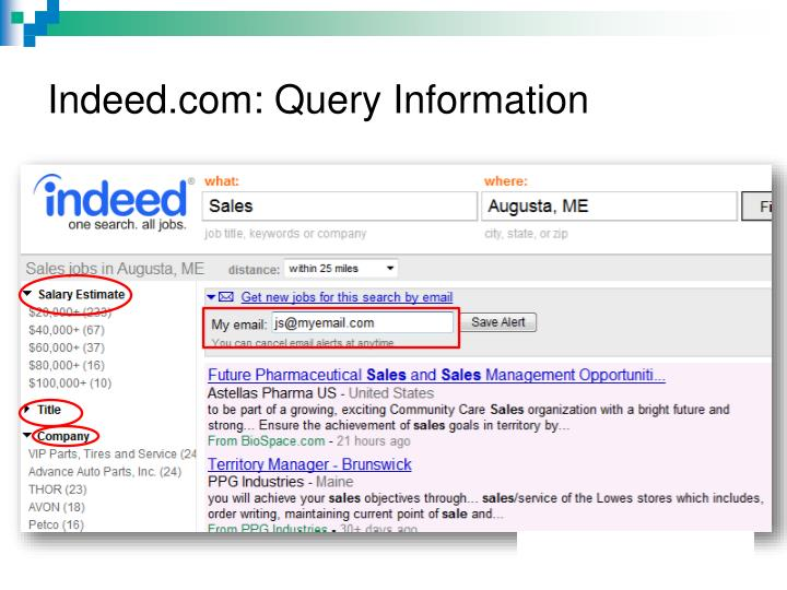 Indeed.com: Query Information