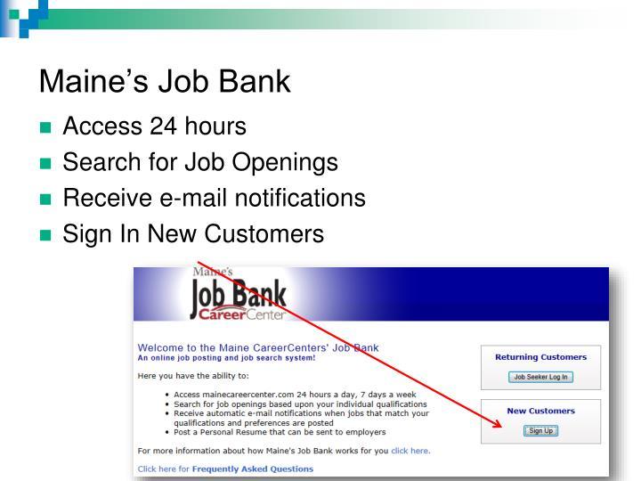 Maine's Job Bank