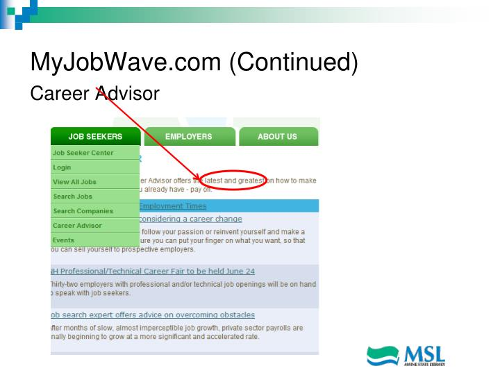 MyJobWave.com (Continued)