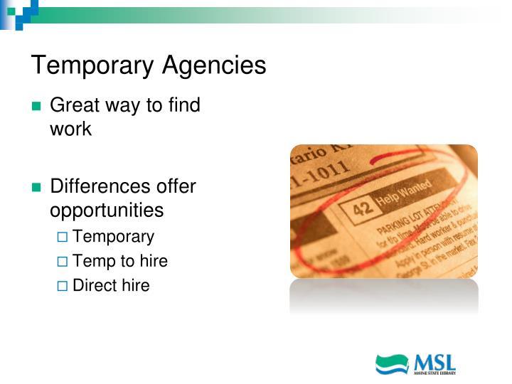Temporary Agencies