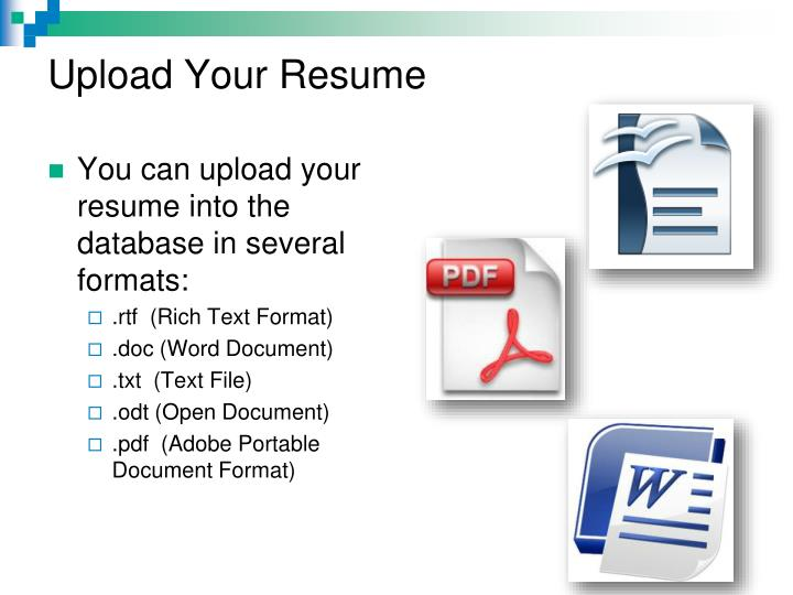 Upload Your Resume