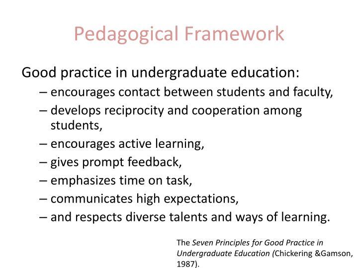 Pedagogical Framework