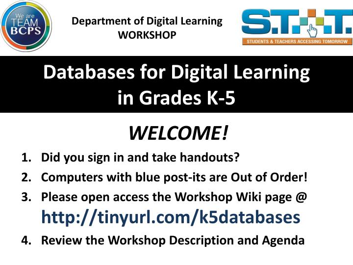 Department of Digital Learning