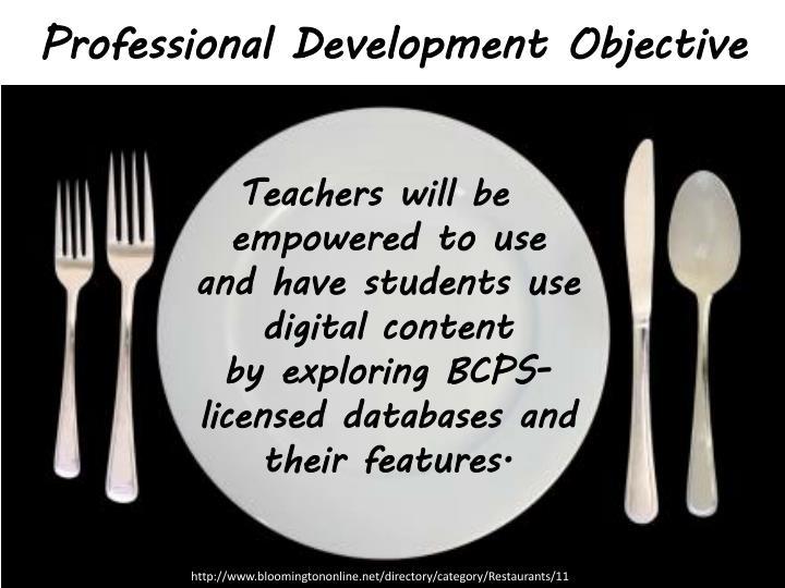 Professional Development Objective